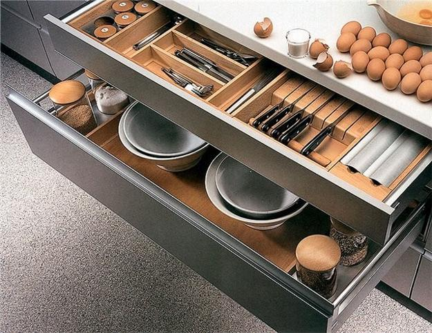 Kitchen Storage Fittings And Space Saving Idea